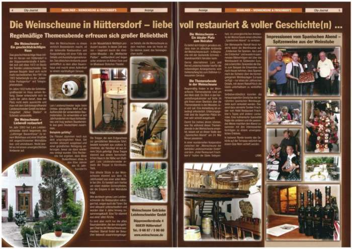 City Journal 2012 Inhalt